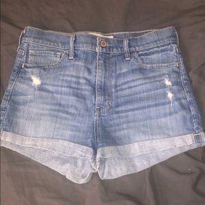 Hollister denim high waisted shorts